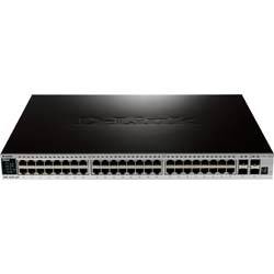 D-Link DGS-3420-52P 52-Port Gigabit L2+ Stackable Managed PoE Switch including 4 x 10 Gbps SFP+ ports