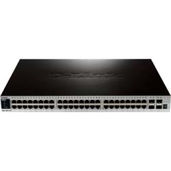 D-Link DGS-3420-52T 52-Port Gigabit L2+ Stackable Managed Switch including 4 x 10 Gbps SFP+ ports