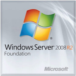 HP Microsoft Windows Server 2008 R2 Foundation Reseller Option Kit English Software - 589222-B21