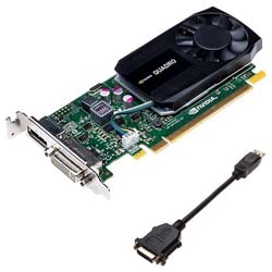 Dell 2GB K620 Nvidia Quadro (DP, DL-DVI-I) (1 DP to SL-DVI adapter) Graphic Card - 490-BCIW