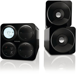 Philips Cube Micro Sound System Black Mcm1055b 98 In