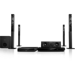 Philips 5.1 3D Blu-ray Home theater (Crystal Clear Sound, Wireless rear speakers, Built-in WiFi, Bluetooth & NFC) - HTB5580/98