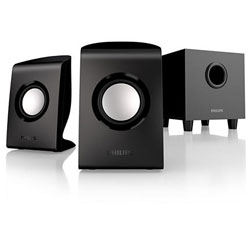 "Philips SPA1330 Multimedia Speakers 2.1 2"" Satellite driver 4"" Subwoofer 30W - SPA1330/67"